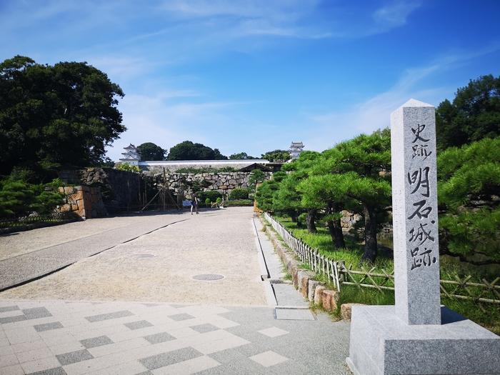太鼓門から見た明石城