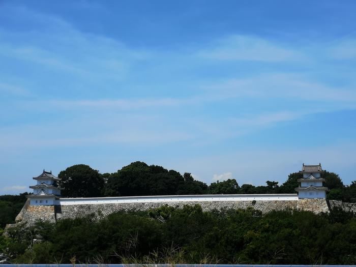 JR明石駅から見た明石城