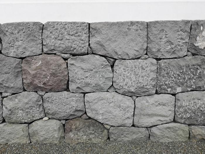 南側の石垣