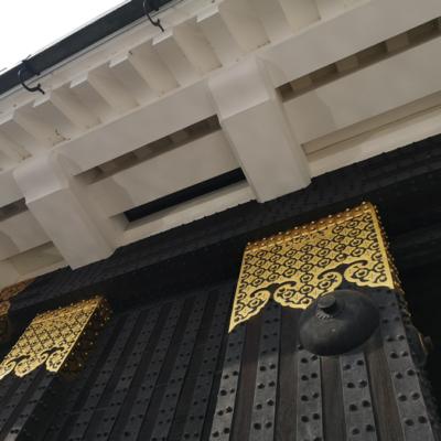 二条城東大手門の石落とし